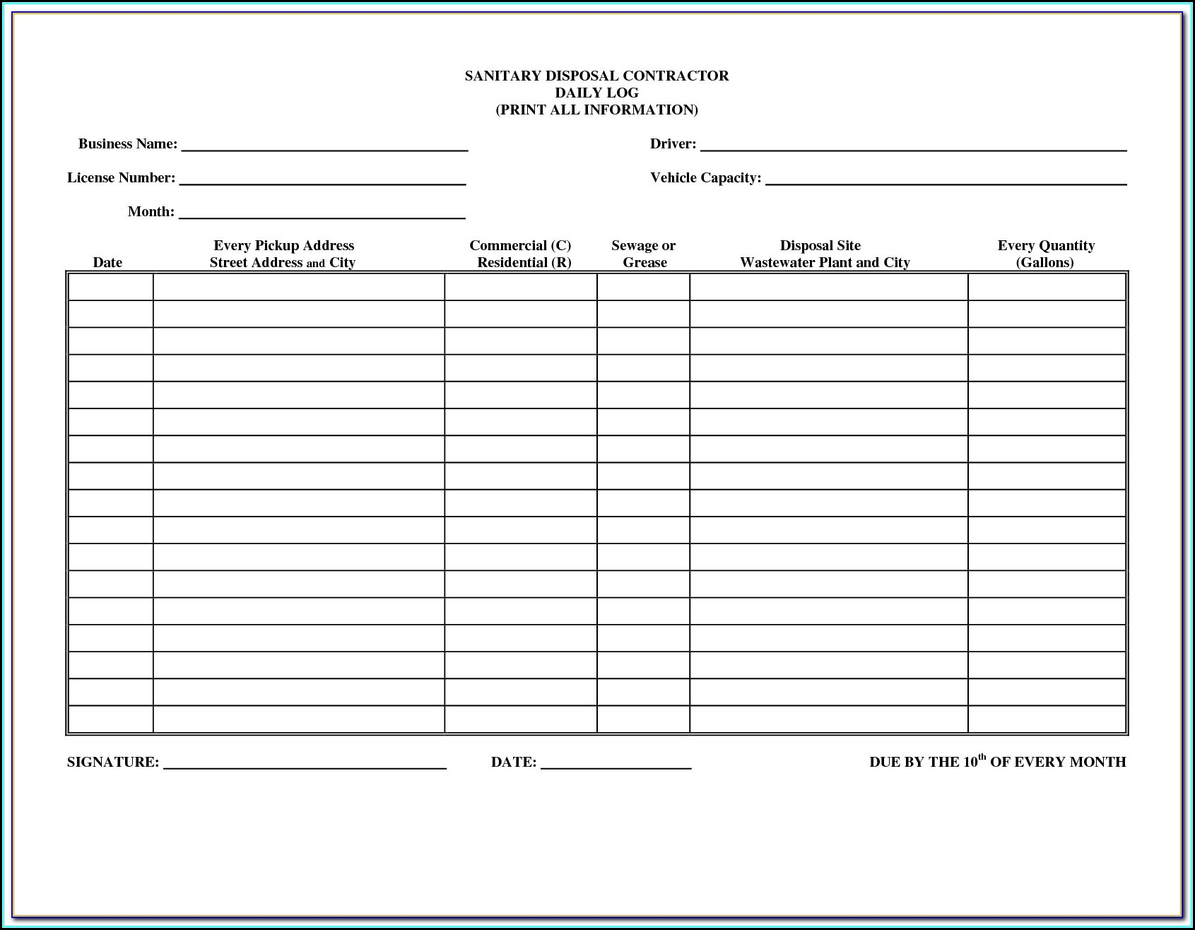Msha Part 46 Training Forms