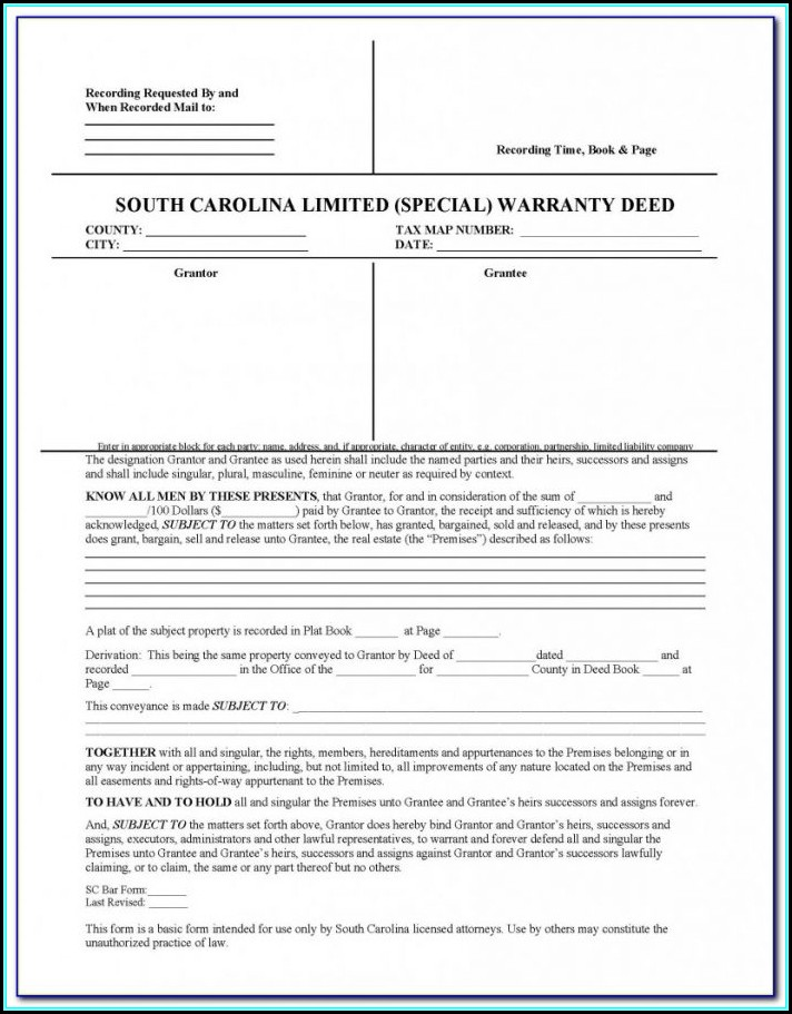 Printable Last Will And Testament Form South Carolina