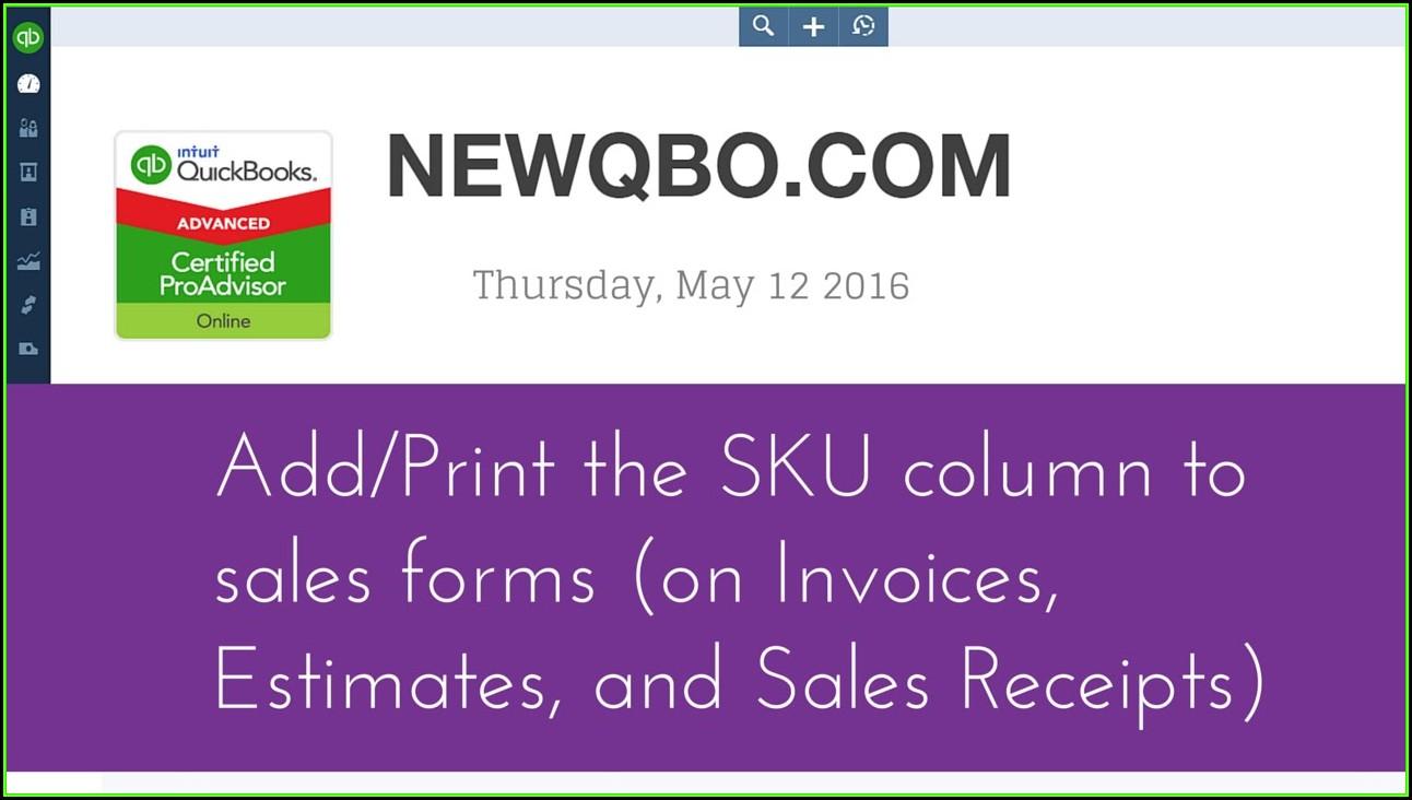 Quickbooks Estimate Forms