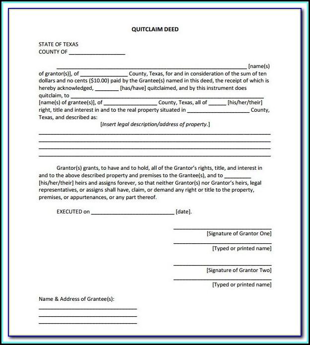 Quit Claim Deed Form Camden County Nj