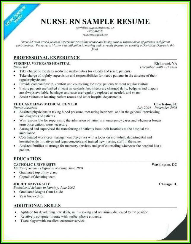 Registered Nurse Resume Template Australia