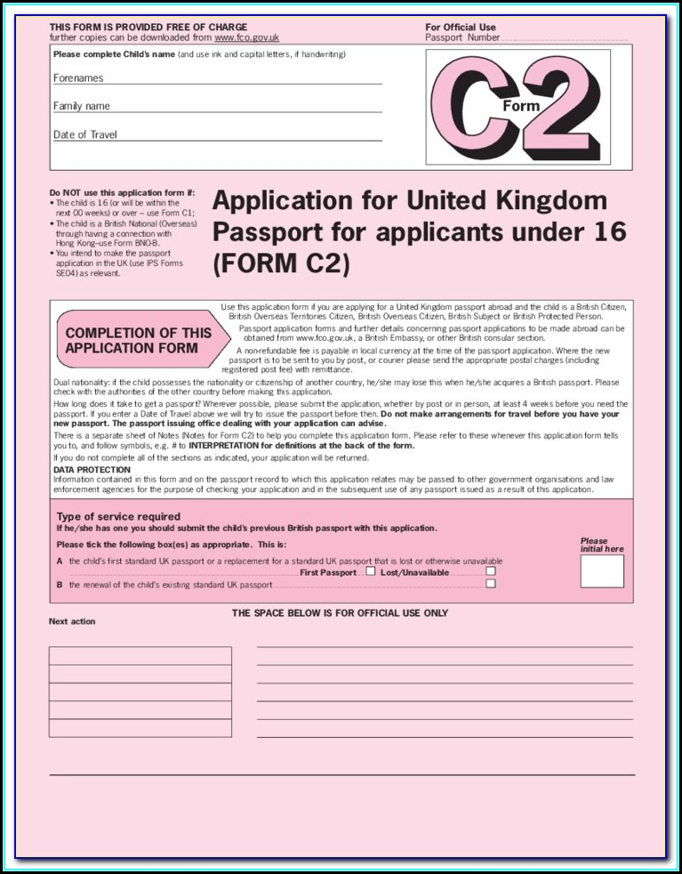 Renewal Passport Forms Online