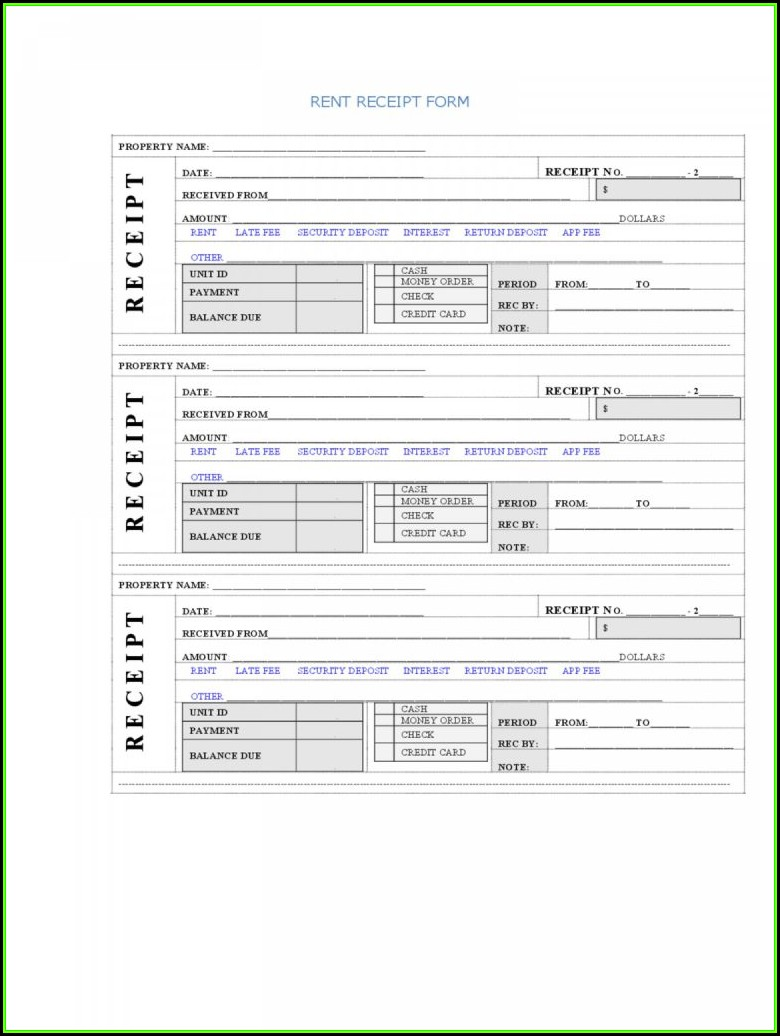 Rental Invoice Template Excel Download