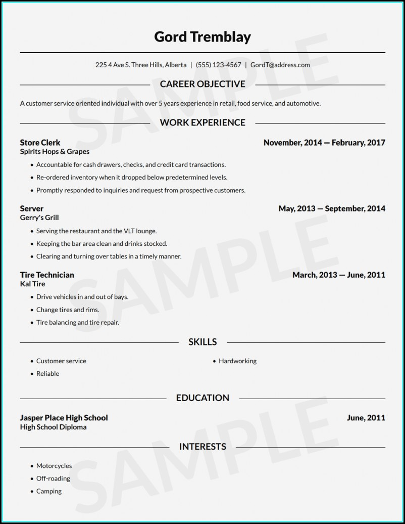 Resume Builder High School Free