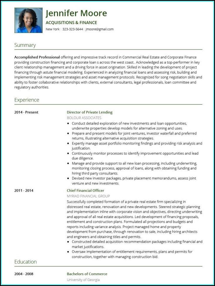 Resume Builder Template Download