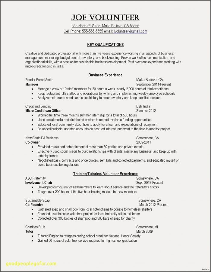 Resume Template Rn Free