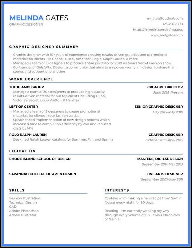 Resume Templates Builder Free