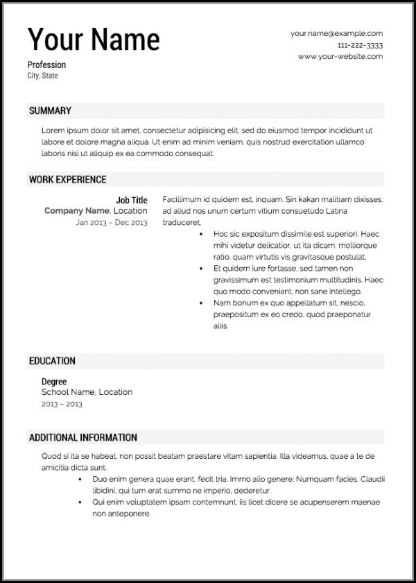 Resume Templates Builder
