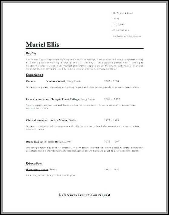 Resume Writing Format For Exam