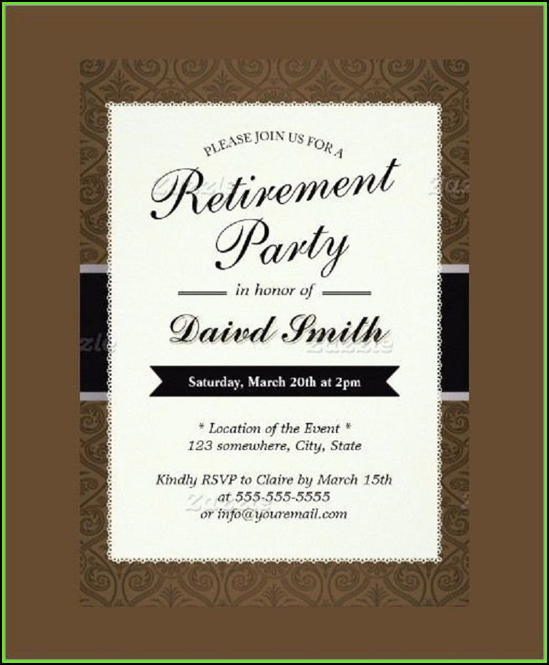 Retirement Party Invitation Template Free Printable