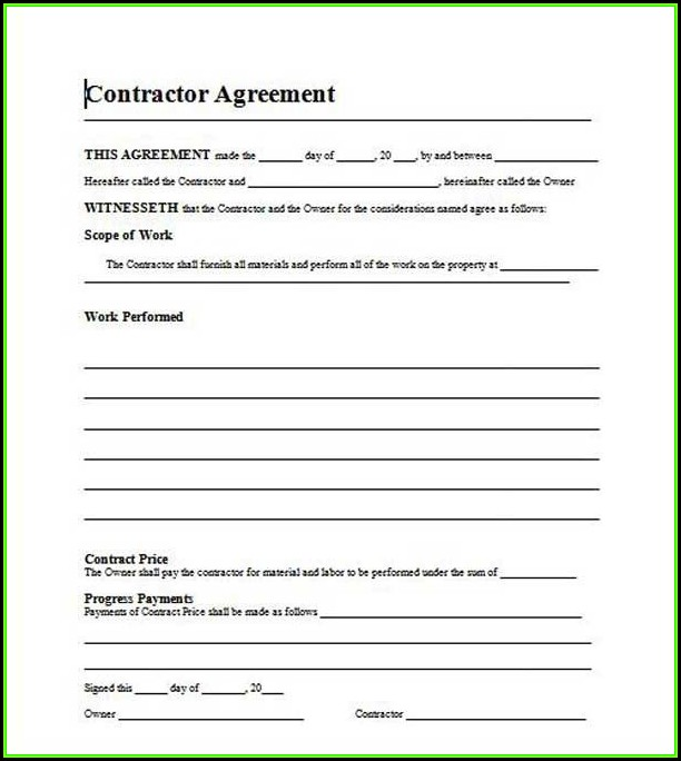 Roofing Contract Template Free