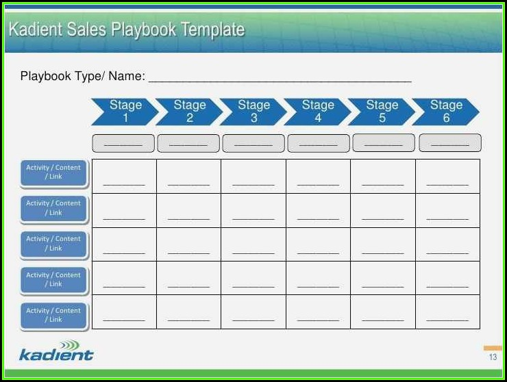 Sales Playbook Template Download