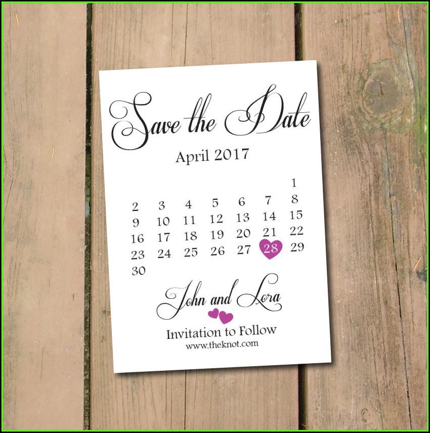 Save The Date Calendar Template 2017