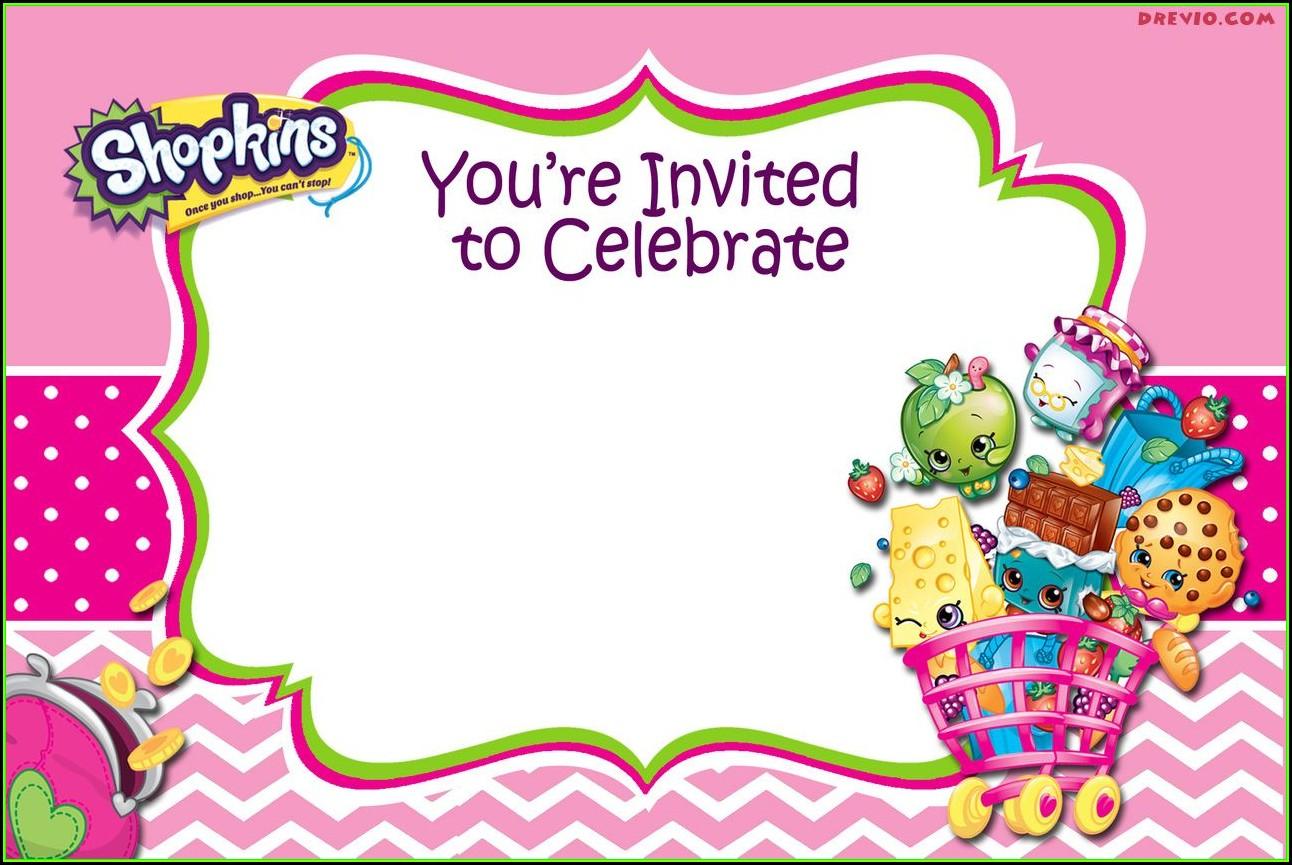 Shopkins Invitations Template Free