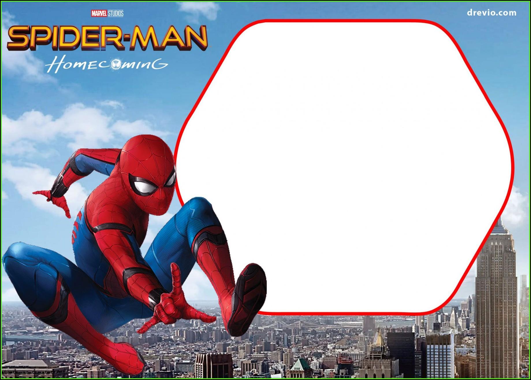 Spiderman Invitation Card Template
