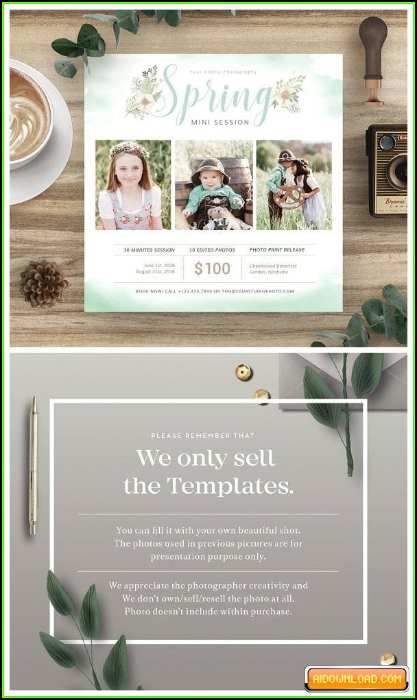 Spring Mini Session Templates Free