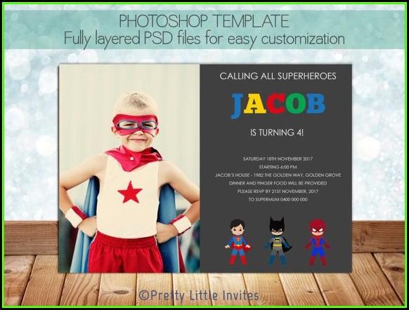 Superhero Invitation Template Psd