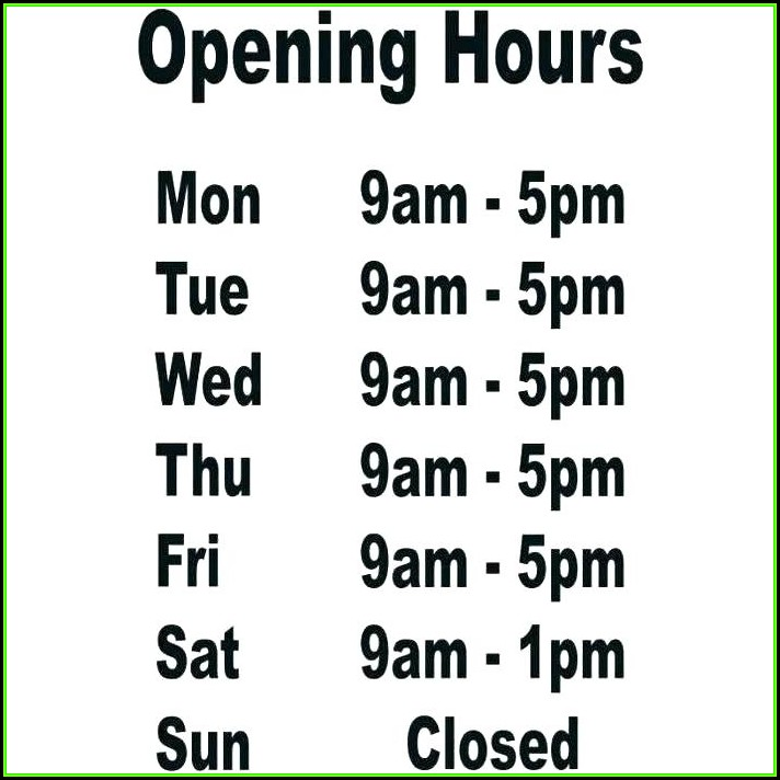 Thanksgiving Business Hours Sign Template