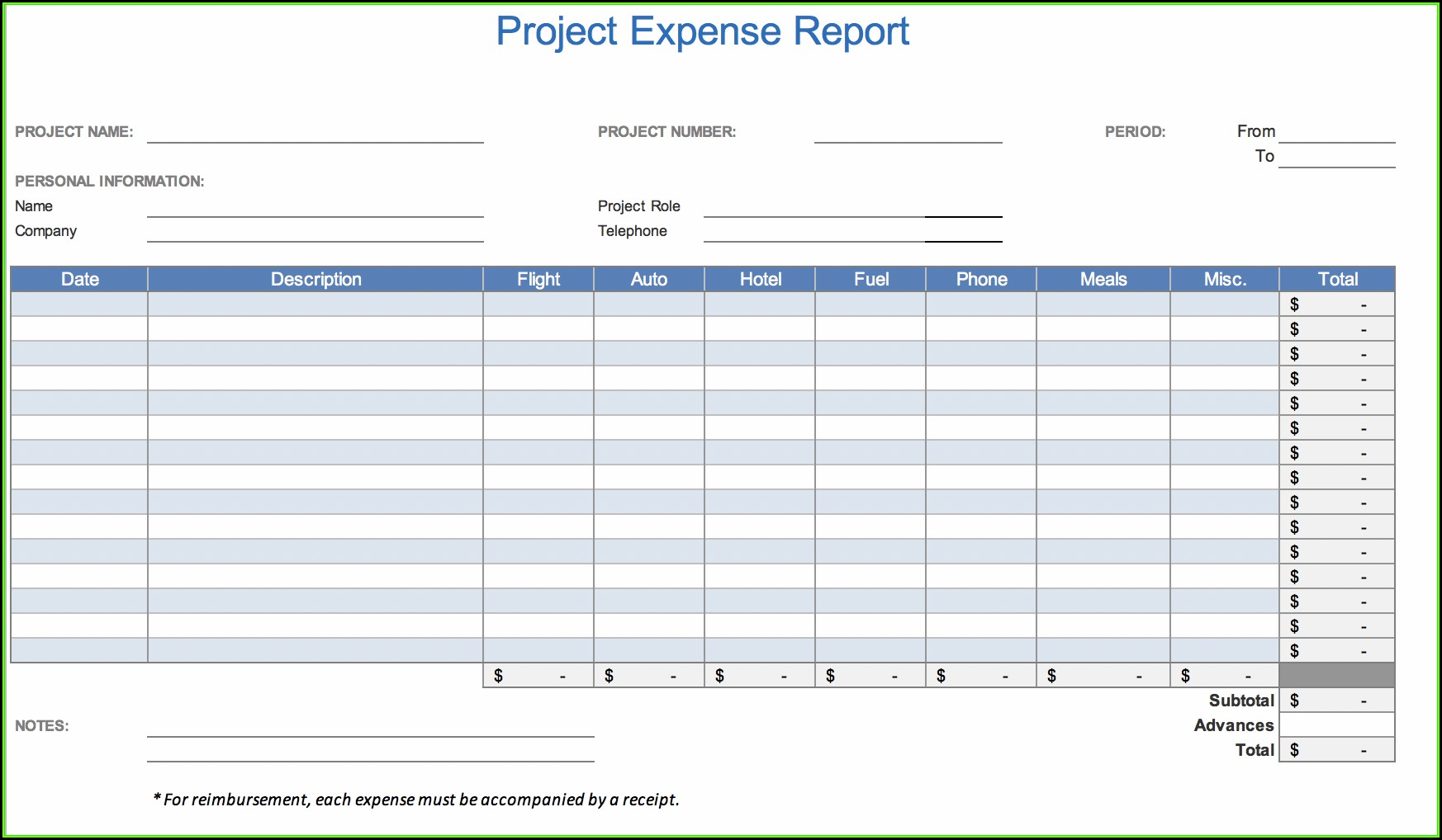 Travel Expense Report Template.xls
