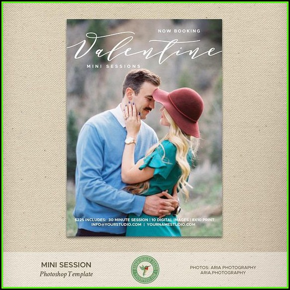 Valentine Mini Session Templates Free
