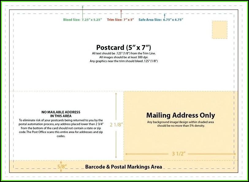 Vistaprint Oversized Postcard Template