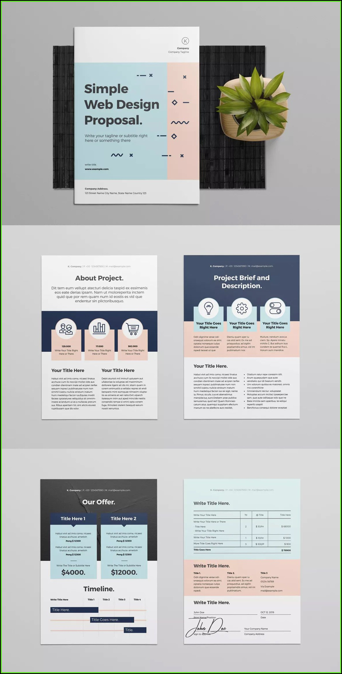 Web Design Proposal Template Indesign