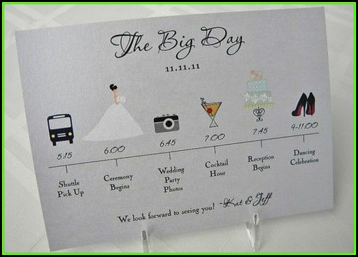 Wedding Day Itinerary Samples