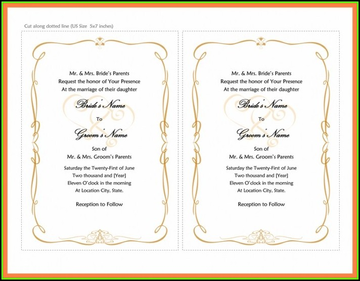 Wedding Invitation Templates Download Word