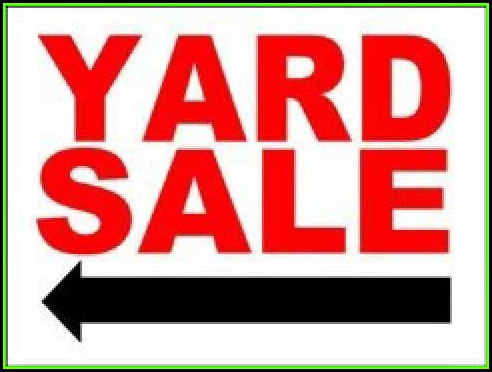 Yard Sale Signs Templates
