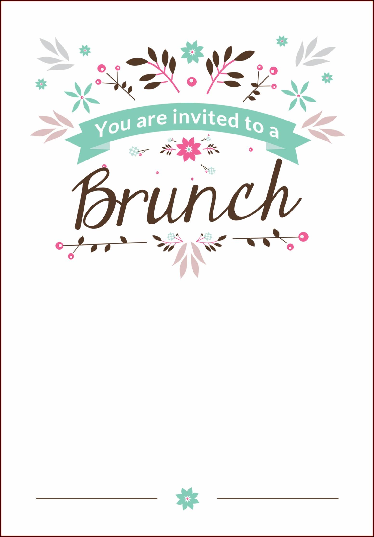 Brunch Invitation Template Printable