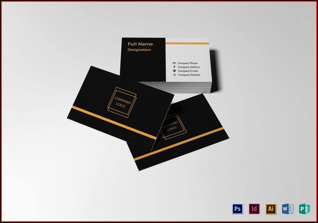 Business Card Template Word 2010 Free