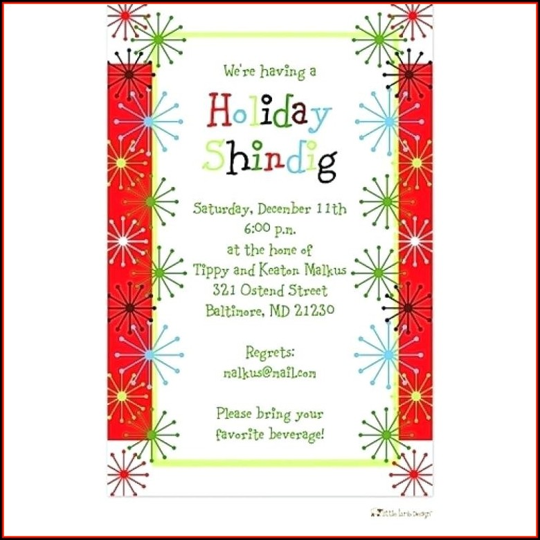 Christmas Dinner Invitation Wording Business
