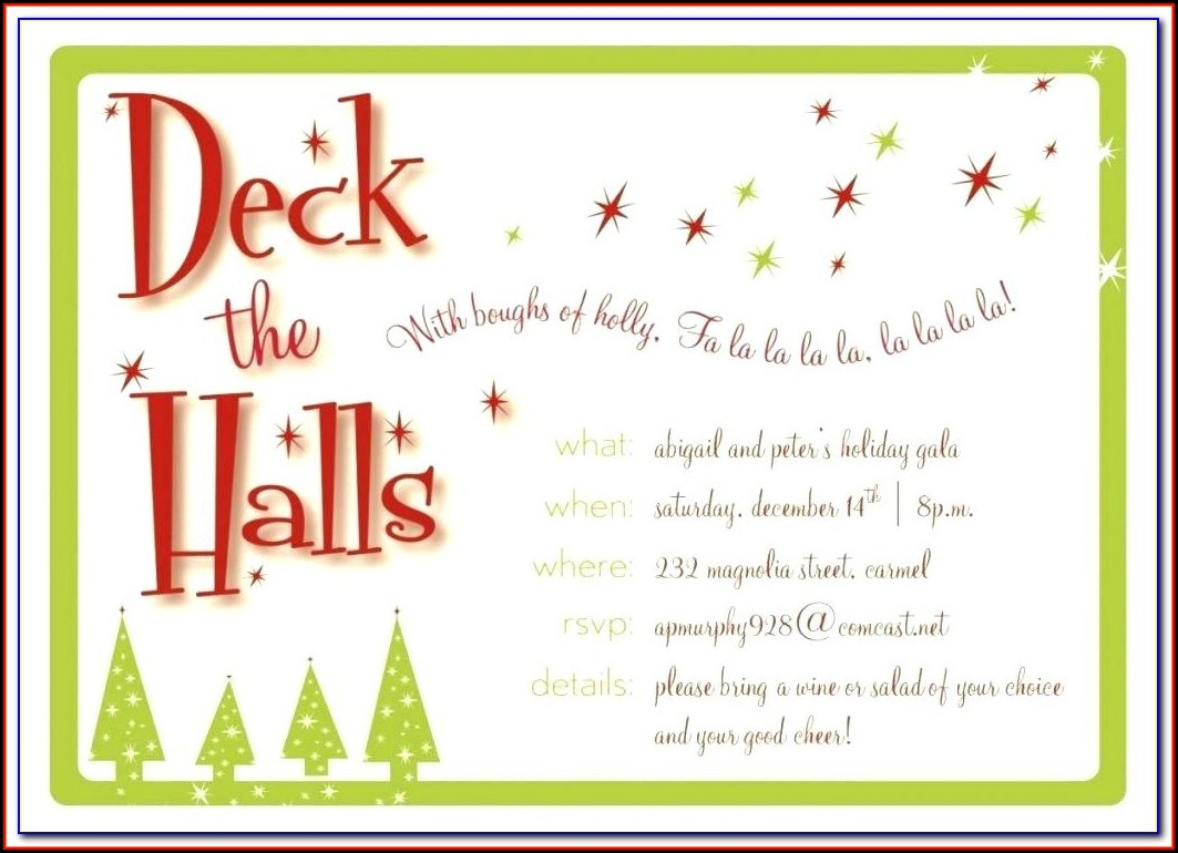 Christmas Dinner Invitation Wording Corporate