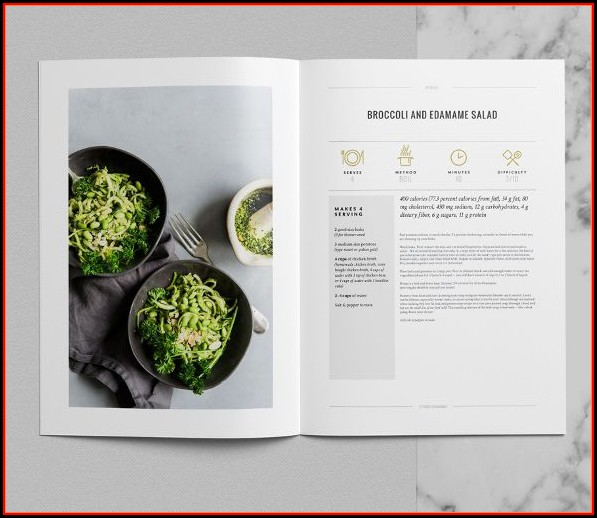 Cookbook Template Indesign Free