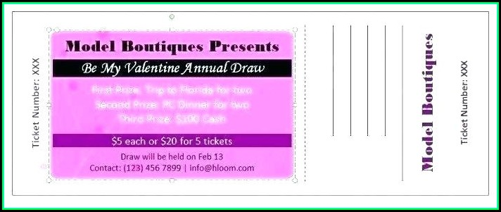 Dinner Dance Tickets Templates