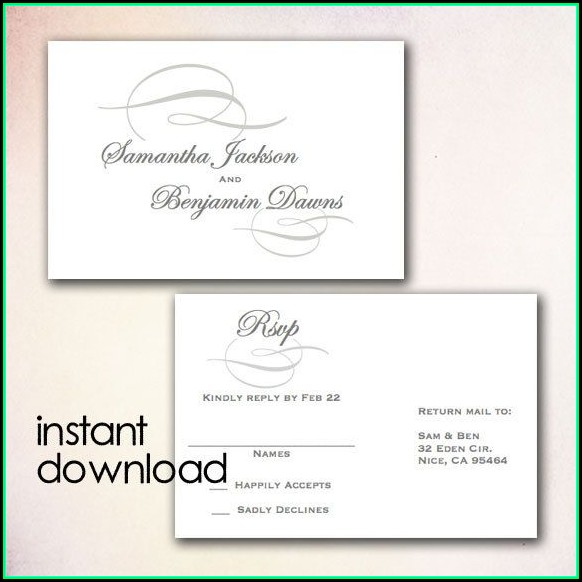 Diy Rsvp Postcard Template