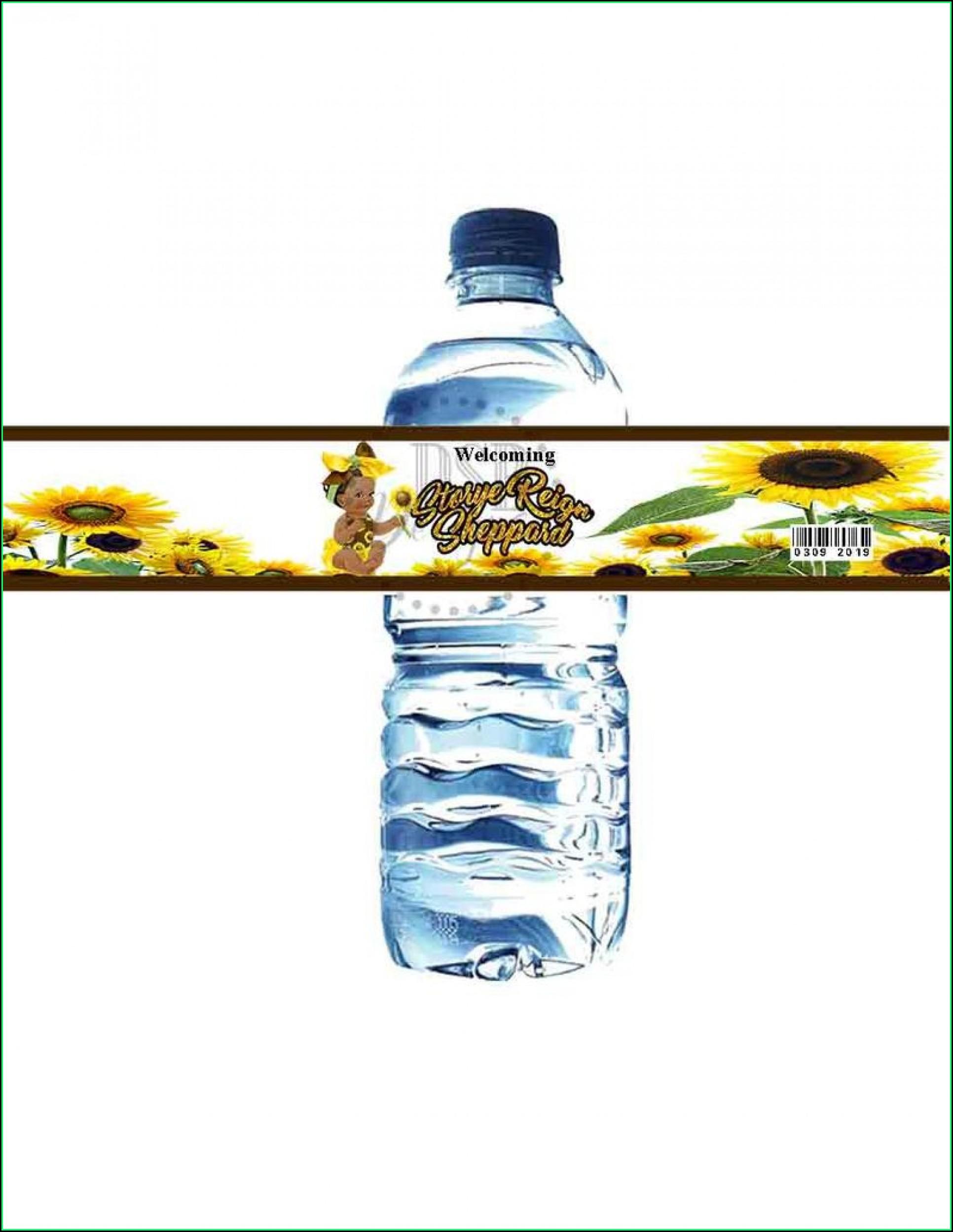 Diy Water Bottle Label Template Free