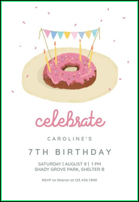 Donut Party Invitation Template Free