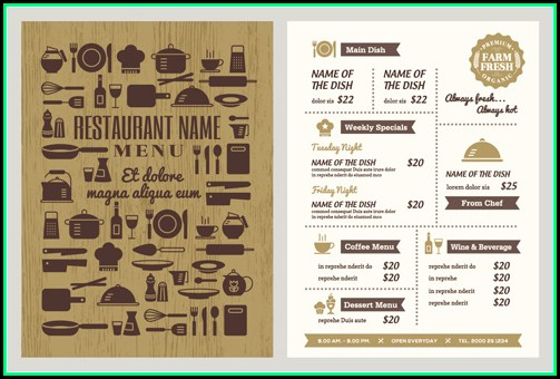 Download Restaurant Menu Template Illustrator