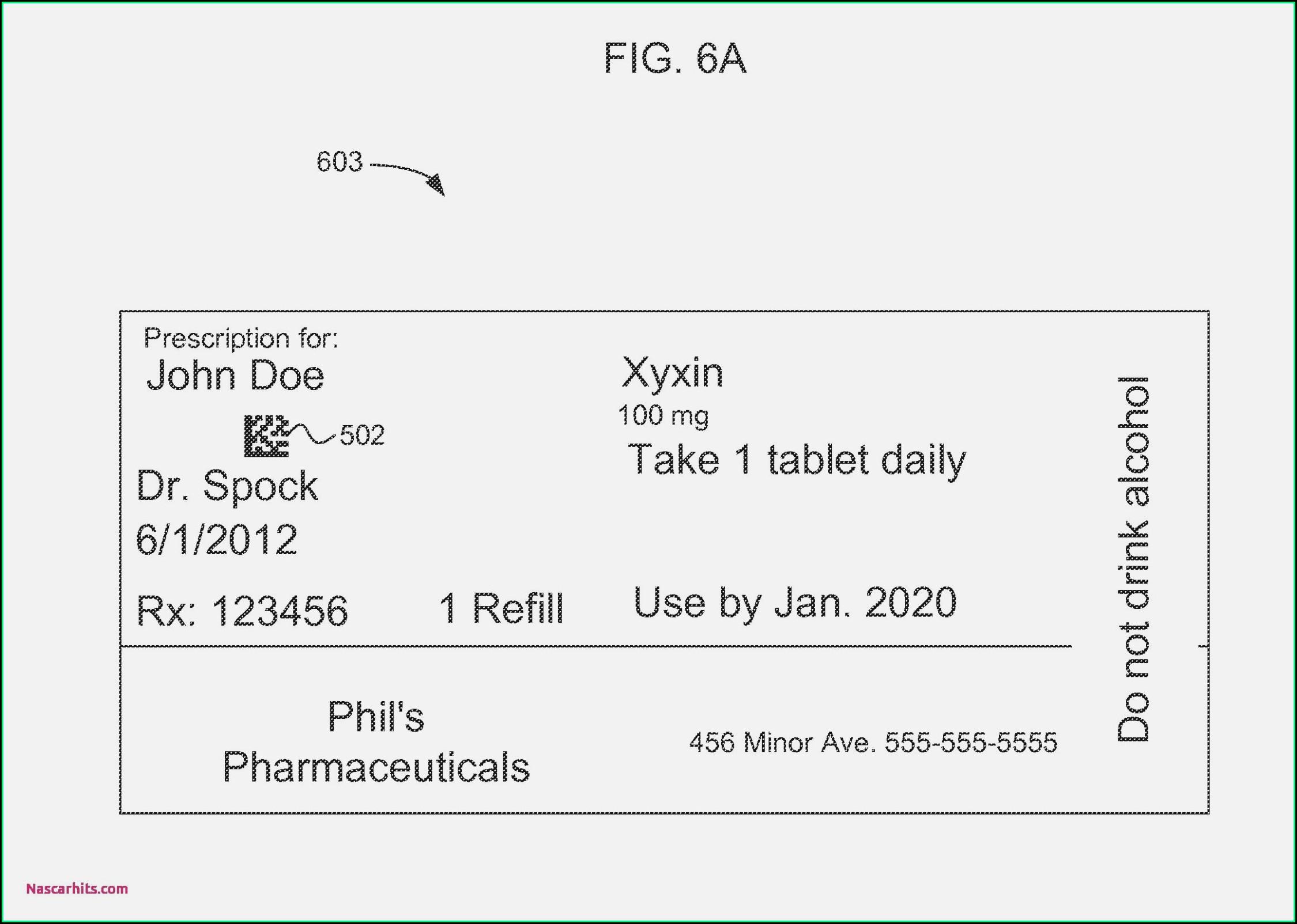Editable Prescription Bottle Template