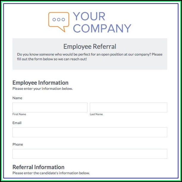 Employee Referral Card Template