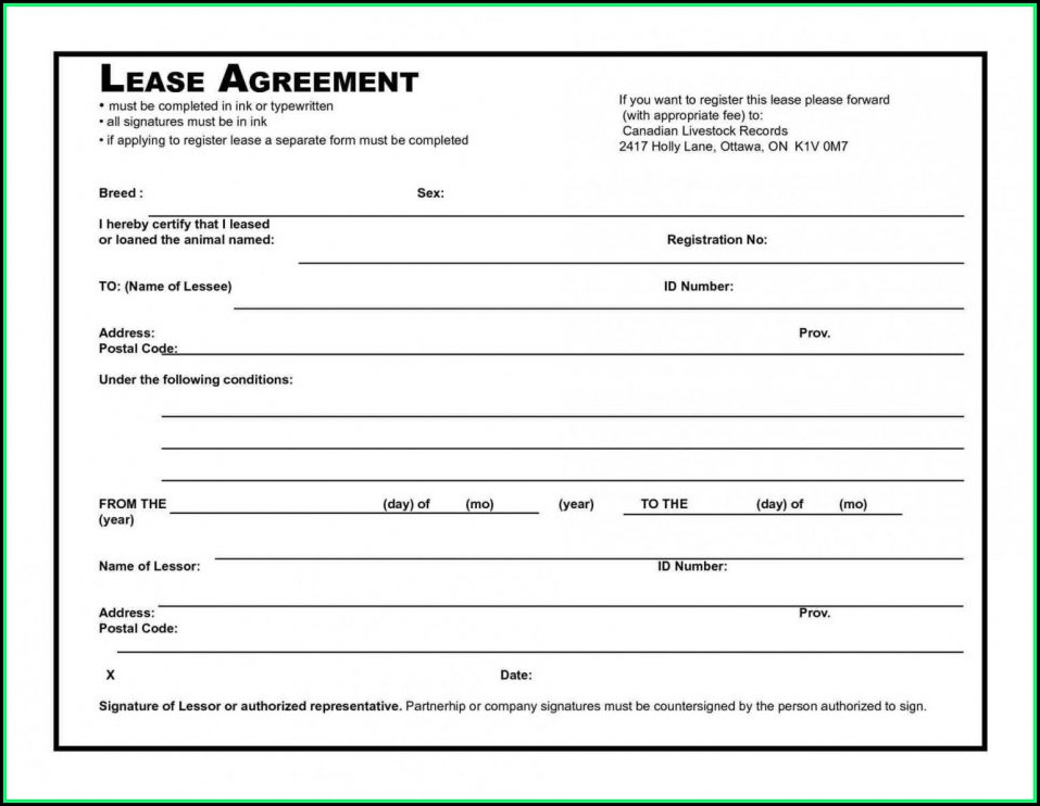Equipment Rental Agreement Template South Africa