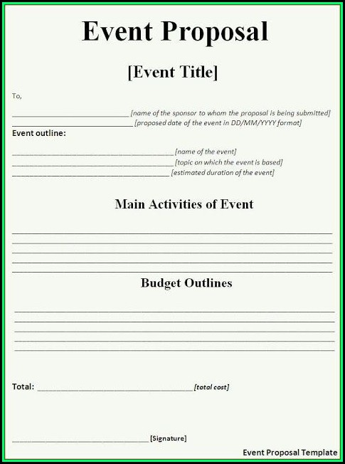 Event Planning Proposal Template Free