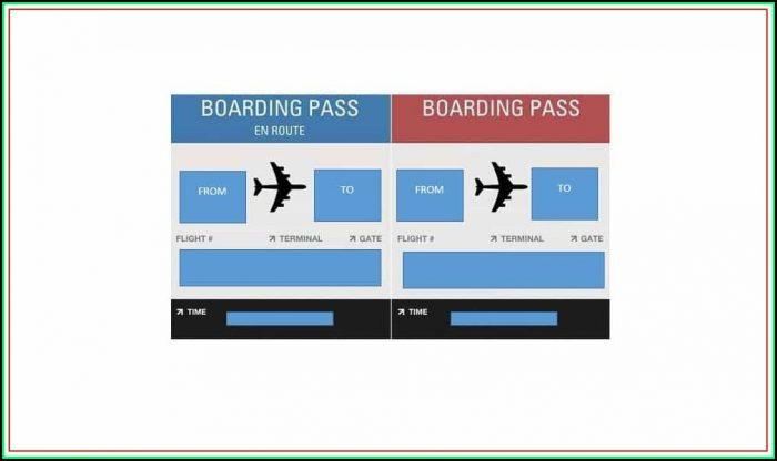 Fake Delta Airline Ticket Template