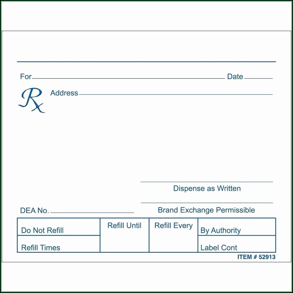Fake Prescription Template Uk