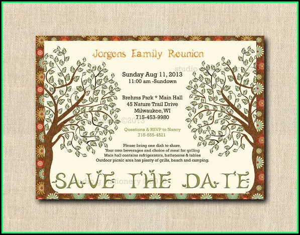 Family Reunion Invitation Templates Free