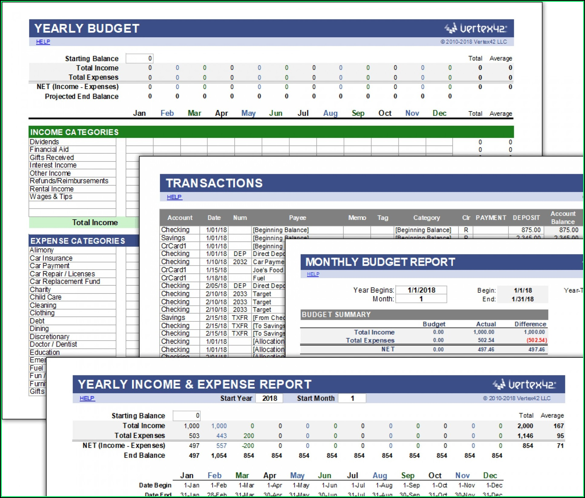 Financial Statement Template Xls South Africa