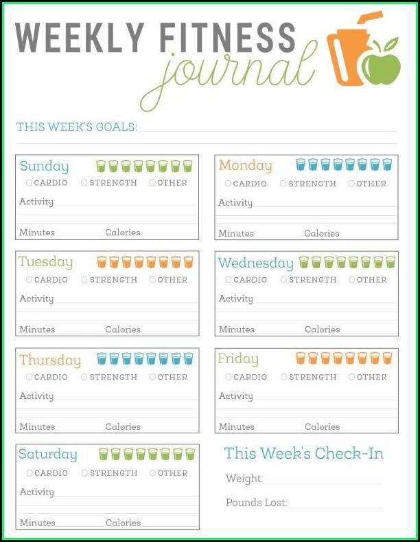 Fitness Journal Template Printable