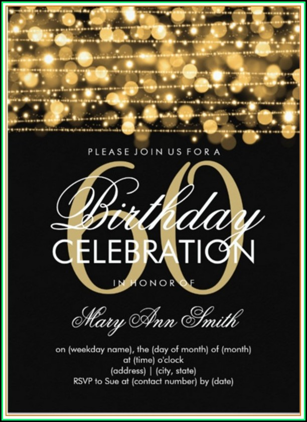 Free 60th Birthday Invitation Templates For Adults