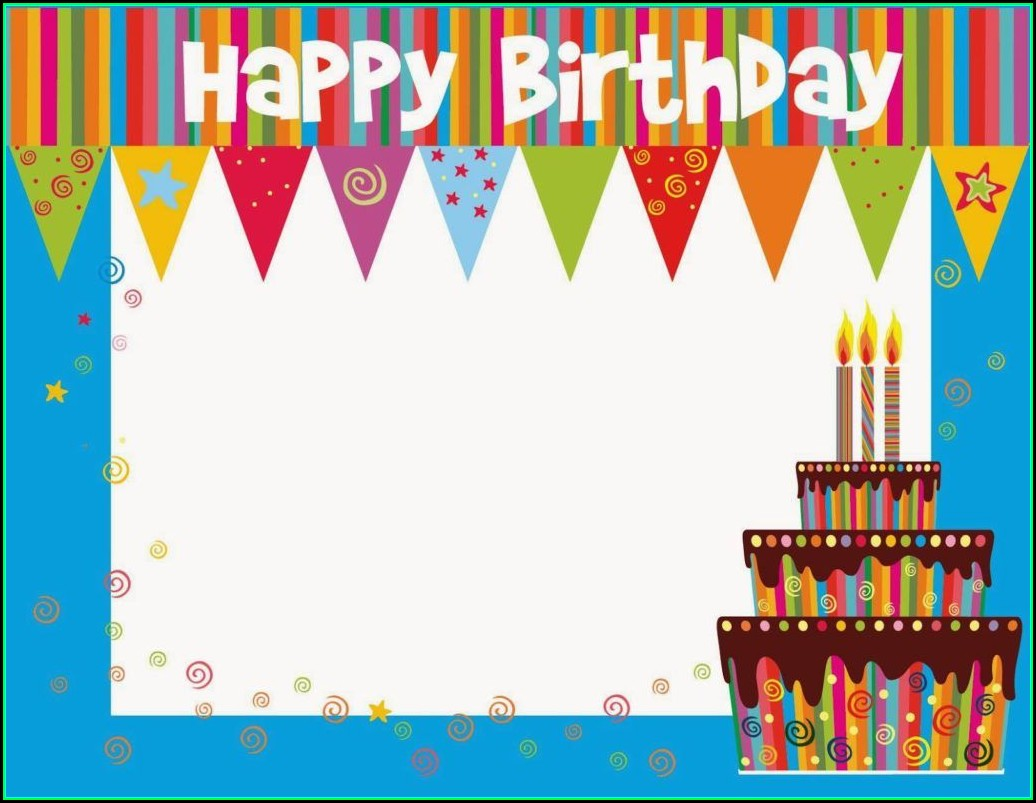 Free Birthday Card Template Photoshop